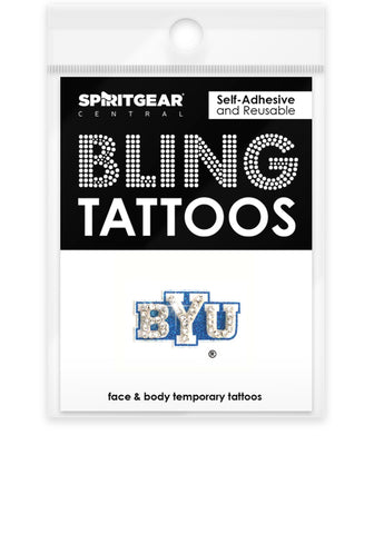 BYU Cougars Bling Tattoos