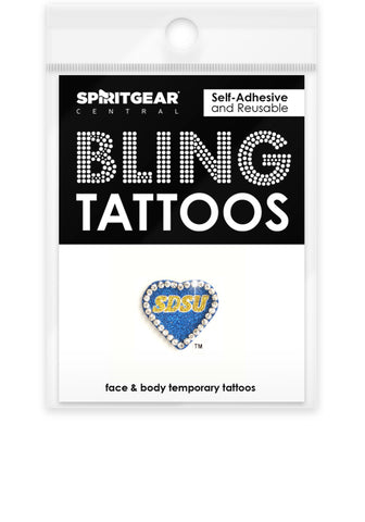 South Dakota State Jackrabbits Bling Tattoos