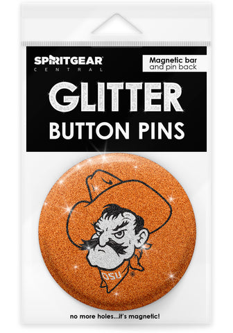 Oklahoma State Cowboys Glitter Button Pins