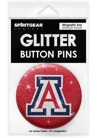 Arizona Wildcats Glitter Button Pins