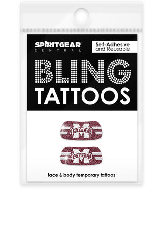Mississippi State Bulldogs Bling Eye Blacks