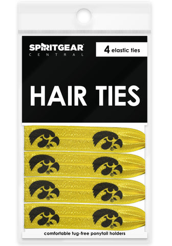 Iowa Hawkeyes Hair Ties - Spirit Gear Central