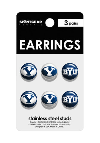 BYU Cougars Stud Earrings - Spirit Gear Central