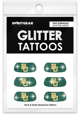 Baylor Bears Glitter Eye Blacks 3 Pack