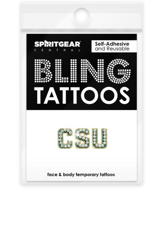 Colorado State Rams Bling Tattoos