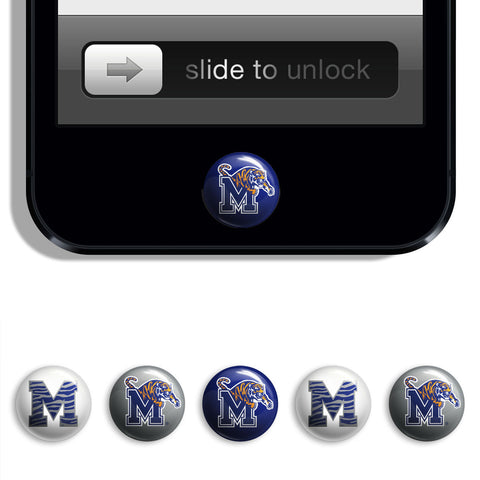 Memphis Tigers Udots iPhone iPad Buttons - Spirit Gear Central