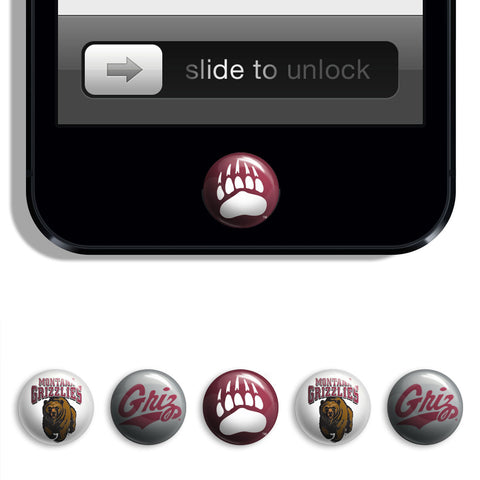 Montana Grizzlies Udots iPhone iPad Buttons - Spirit Gear Central
