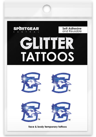 Creighton Bluejays Glitter Tattoos 4 Pack