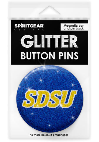 South Dakota State Jackrabbits Glitter Button Pins