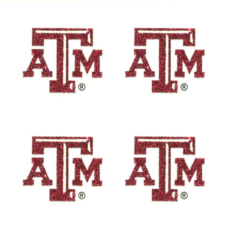 Texas A&M Aggies Glitter Tattoos 4 Pack - Spirit Gear Central