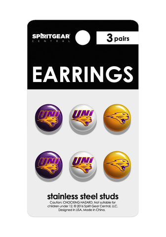 Northern Iowa Panthers Stud Earrings - Spirit Gear Central