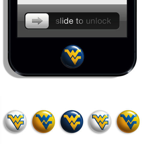 West Virginia Mountaineers Udots iPhone iPad Buttons - Spirit Gear Central