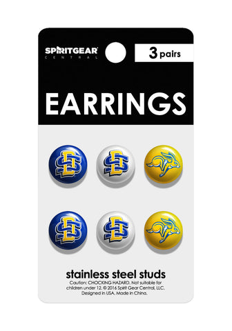 South Dakota State Jackrabbits Stud Earrings - Spirit Gear Central