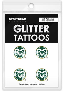 Colorado State Rams Glitter Tattoos 4 Pack