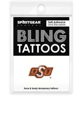 Oklahoma State Cowboys Bling Tattoos