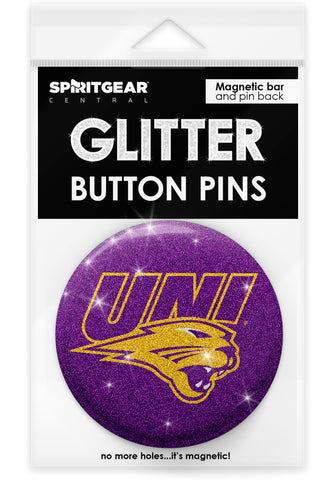 Northern Iowa Panthers Glitter Button Pins