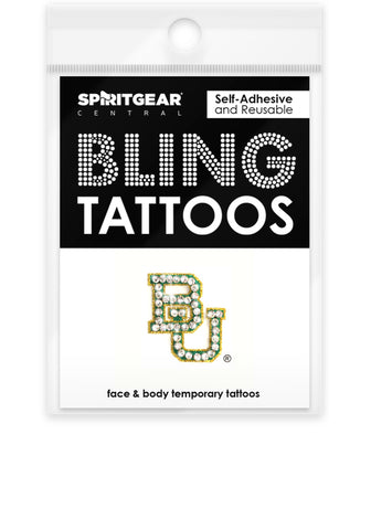 Baylor Bears Bling Tattoos