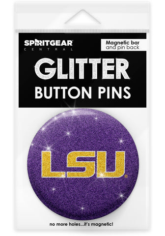 LSU Tigers Glitter Button Pins