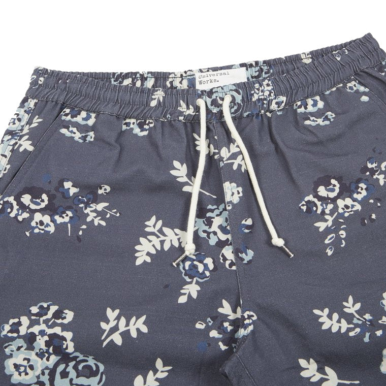 Universal Works Men's Flowerprint Canvas Beach Shorts