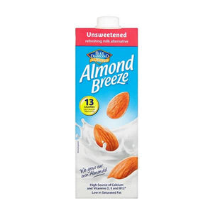Blue Diamond Almond Breeze Unsweetened 1l - Shipping From Just £2.99 Or FREE When You Spend £55 Or More