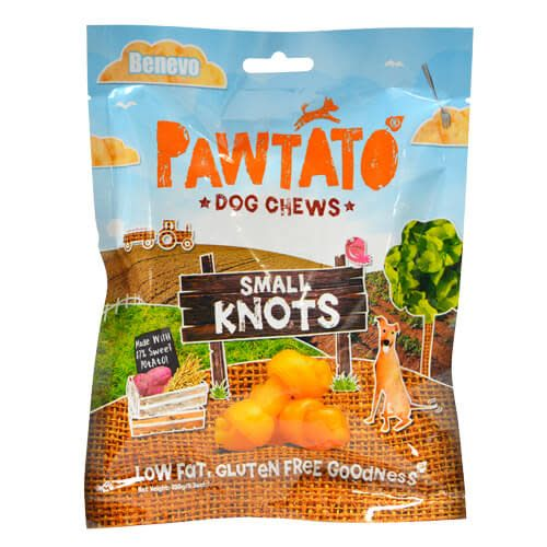 Benevo Pawtato Knots Dog Chews 150g - Shipping From Just £2.99 Or FREE When You Spend £55 Or More