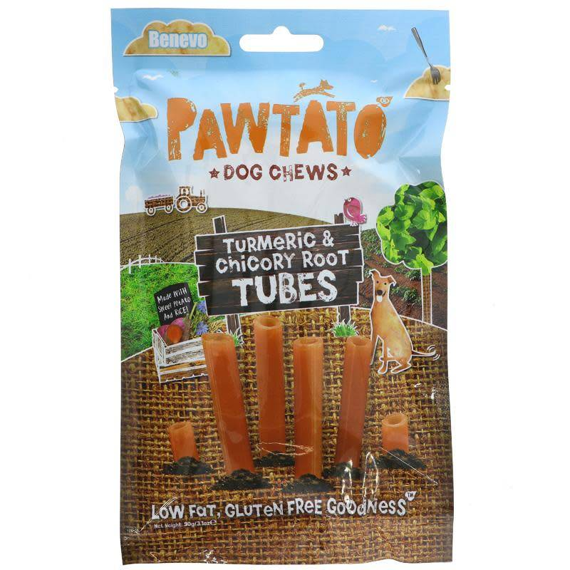Benevo Pawtato Root Tubes 90g - Shipping From Just £2.99 Or FREE When You Spend £55 Or More