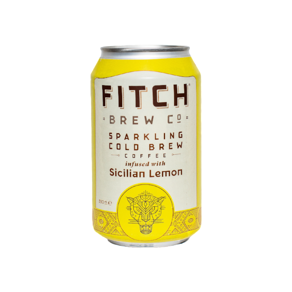 FITCH Sparkling Cold Brew Coffee Sicilian Lemon 330ml - Shipping From Just £2.99 Or FREE When You Spend £55 Or More