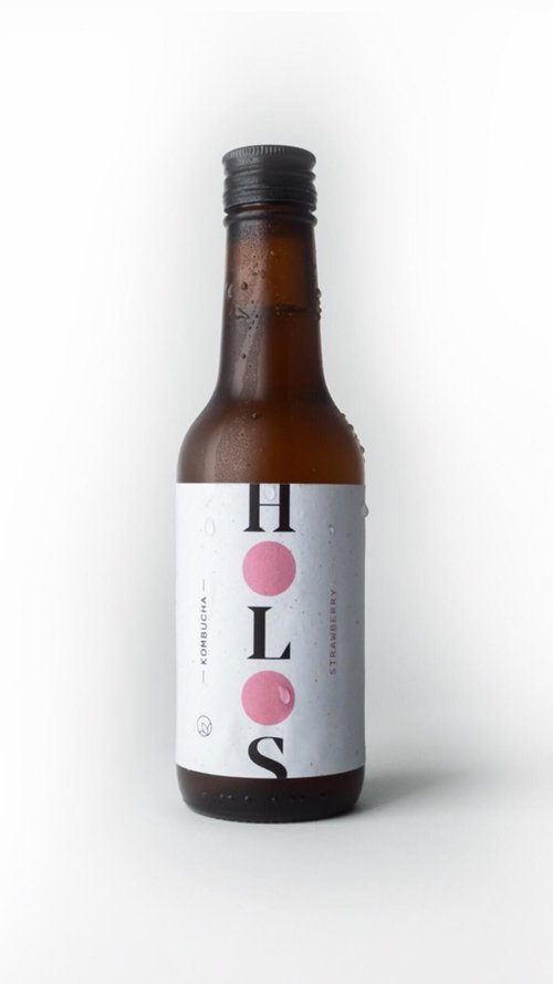 HOLOS Kombucha Strawberry & Vanilla 250ml - Shipping From Just £2.99 Or FREE When You Spend £55 Or More