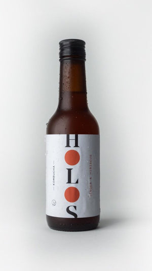 HOLOS Kombucha Ginger & Hibiscus 250ml - Shipping From Just £2.99 Or FREE When You Spend £55 Or More