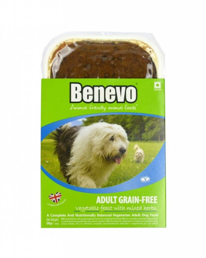 Benevo Adult Grain-Free Vegetable Dog Food 395g - Shipping From Just £2.99 Or FREE When You Spend £55 Or More