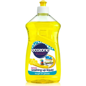 Ecozone Washing Up Liquid Lemon 500ml - Shipping From Just £2.99 Or FREE When You Spend £55 Or More