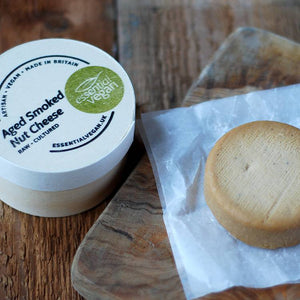 Essential Vegan - Aged Smoked Nut Cheese 150g - Shipping From Just £2.99 Or FREE When You Spend £55 Or More