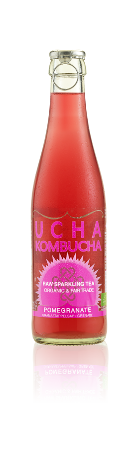 Ucha Kombucha Raw Pomegranate 330ml