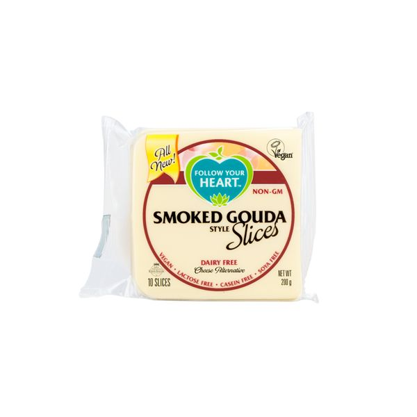 Follow Your Heart Smoked Gouda Slices 200g - Shipping From Just £2.99 Or FREE When You Spend £55 Or More