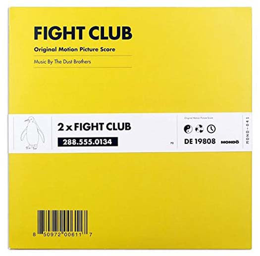 FIGHT CLUB Soundtrack Dust Brothers LP Vinyl NEW 2017