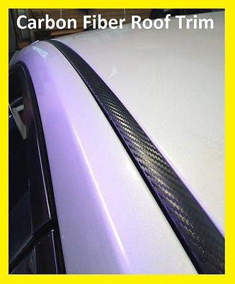 2005-2013 Toyota Yaris Black Carbon Fiber Roof Top Trim Molding - Automotive Authority
