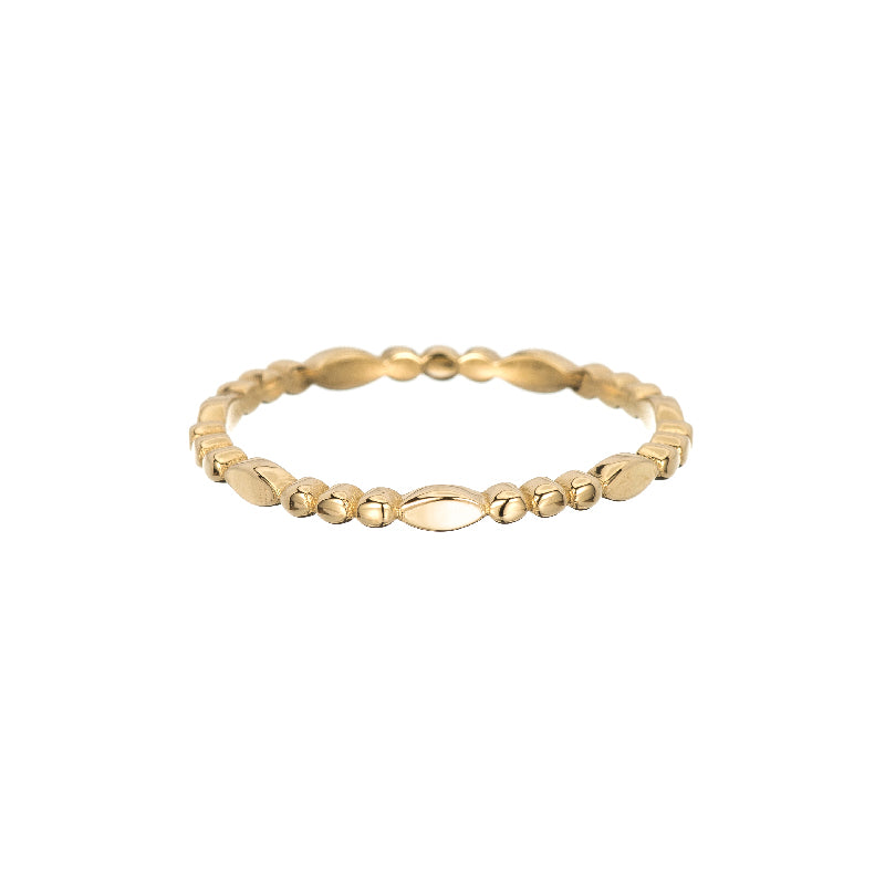 Gold Marquise Beaded Band