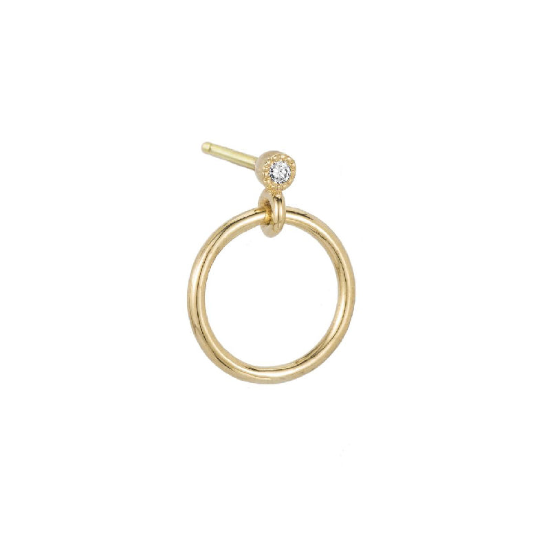 Mini Diamond Eternity Dangle Earring (Single)