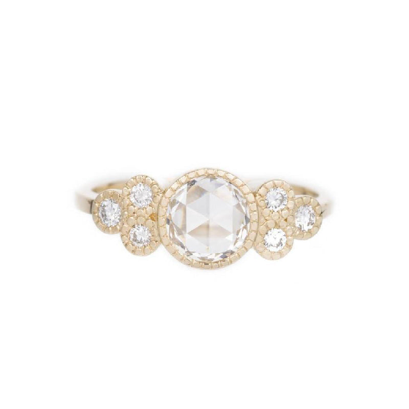 Rose Cut Diamond Cluster Elevate Ring
