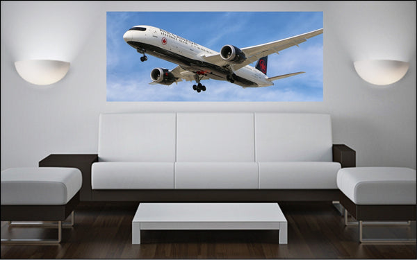 "Boeing 787 Dreamliner 72"" x 30"" Giant Image Wall Art"