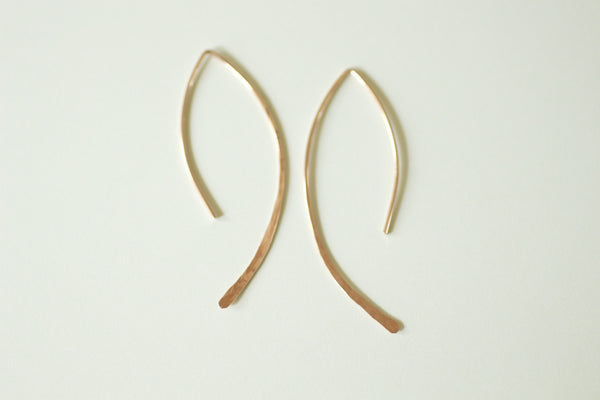 The Alicia Earrings Simple Almond Hoops (Gold or Silver)