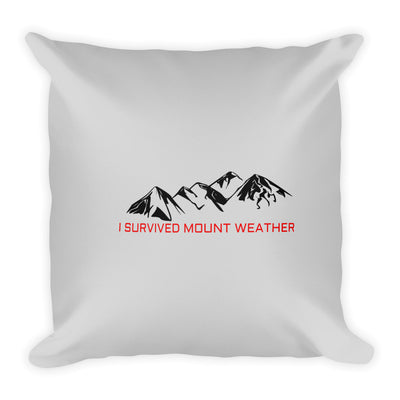 I Survived Mount Weather Black Mountains Gray Pillow