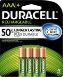 4/pack Duracell AAA Rechargeable Batteries, AAA4 1.2V NiMH EXP 2021 DX2400 (4x1)