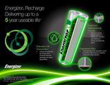 4/pack AA Energizer Rechargeable NiMH Batteries EXP 2021, AA4 Recharge 2300mAh