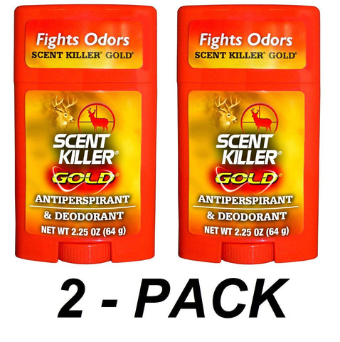2PACK Scent Killer Gold Antiperspirant & Deodorant 2.25oz 1247 Wildlife Research
