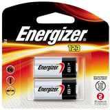 CR123A Lithium Energizer Batteries 2/Pack, EXP 2026, 1500mAh 3V Photo