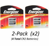 Energizer CR2 Photo 800mAh 3V Lithium EL1CR2BP2 Batteries (2-Pack x2 =4) EXP 2026