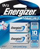 Energizer Ultimate Lithium Batteries, 9V, 2/Pack - Lithium Batteries