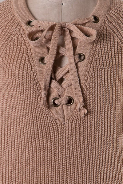 All Tied Up Sweater Close Up