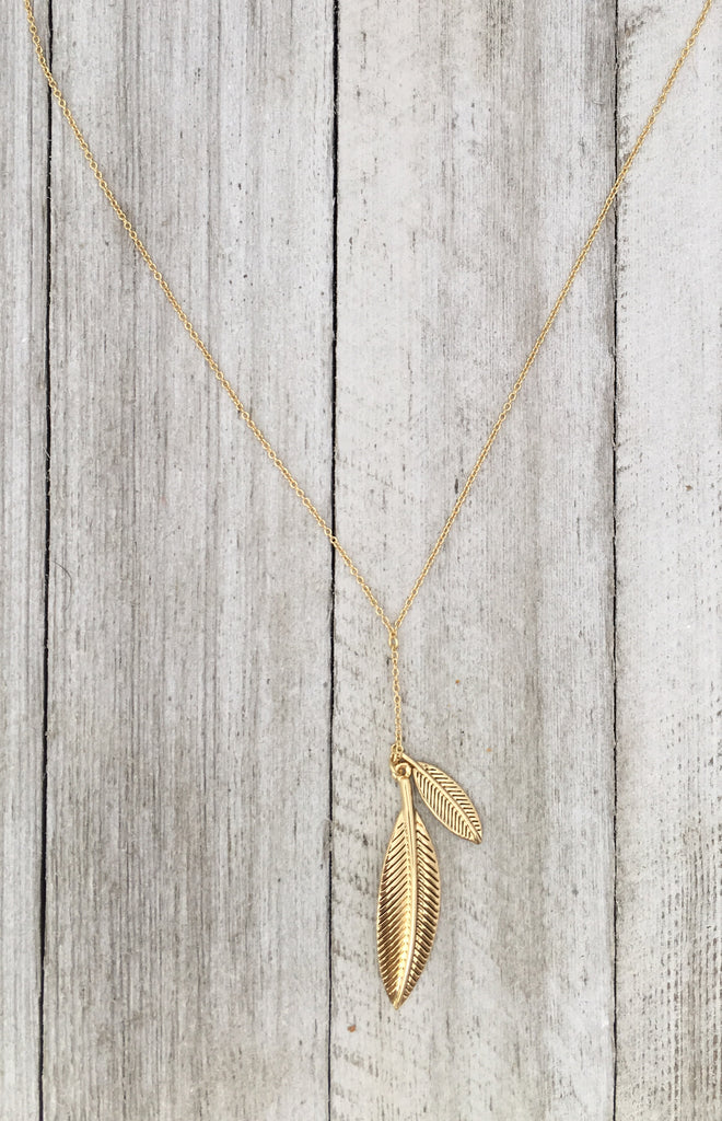 House of Harlow Sacred Leaf Necklace